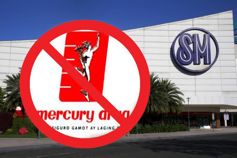 Walang Mercury Drug sa mga SM